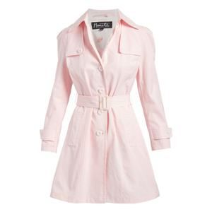 Nanette Lepore Water Resistant Pink Trench Coat